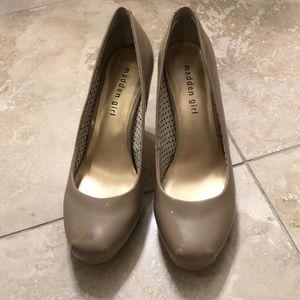 Madden Girl Tan Heels